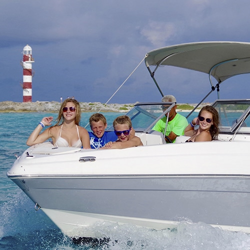 private boat ride cancun epic water toys